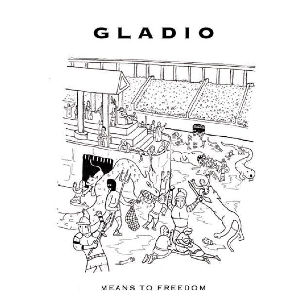 Grafica della copertina di Means to Freedom di Gladio